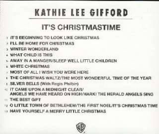 KATHIE LEE GIFFORD   Its Christmas Time RARE Promo CD 093624534624
