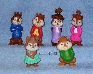 2010 McDonalds Alvin & Chipmunks Set   Lot of 6 (All Toys Talk)