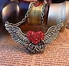 Vintage Bronze Flower Angel Wing Crystal