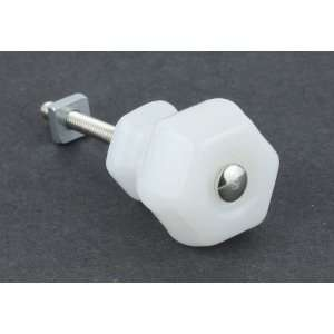 Antique Milk White Glass Knob   1 1/4