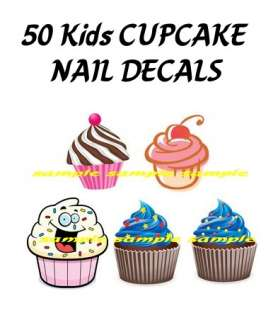 nail decals cupcake kids lot high quality nail art decals