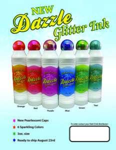 60PK NEW DAZZLE BINGO DAUBERS W/ GLITTER/SPARKLE INK
