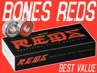 BONES REDS 8MM 16 PACK Skate Bearings Speed Skating Roller Derby