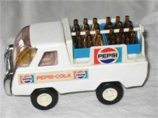 BUDDY L PEPSI COLA DELIVERY TRUCK WITH BOTTLES1960