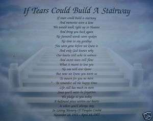 IF TEARS COULD BUILD A STAIRWAY PERSONALIZED POEM GIFT