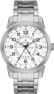 Bulova Marine Star White Dial Titanium Mens Watch 96B125