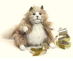 BRAND NEW* PLUSH SOFT TOY Folkmanis Fluffy Fat Cat Full Body Hand