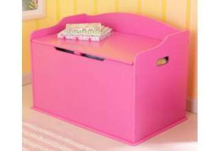 New KidKraft Austin Childrens Kids Wooden Toy Box   Bubblegum