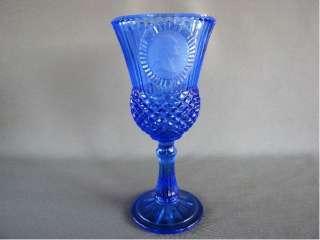 Avon Cobalt blue Fostoria Wine Glass George Washington
