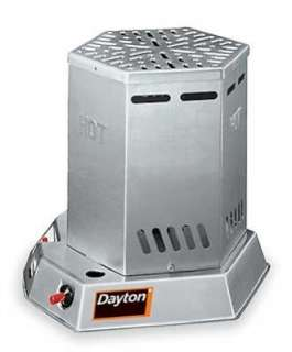 TC25 Dayton Liquid Propane Gas Fired Heater Has a Hexagonal Shape