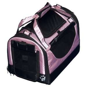 Pet Gear World Traveler Tote Bag Pet Carrier in Crystal Pink Dogs