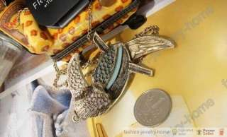 fashion clear crystal parrot necklace big Pendant