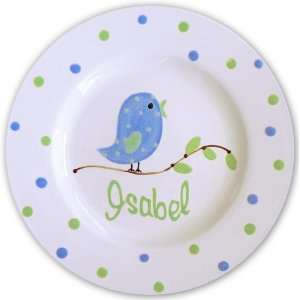 Blue Bird Hand Painted Personalized Plate Everything Else