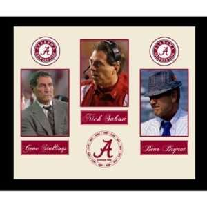 Nick Saban Gene Stallings And Bear Bryant Framed Alabama