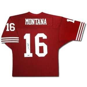 Joe Montana San Francisco 49ers Autographed Home/Red