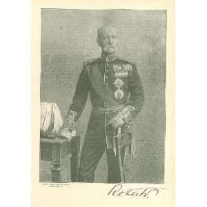 1897 Print British Field Marshal Lord Roberts Everything