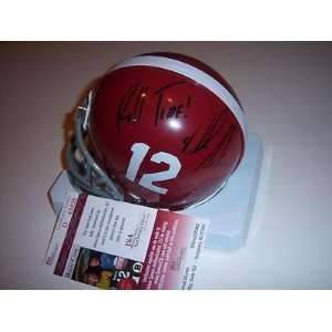 Nick Saban Alabama Jsa/coa Signed Mini Helmet