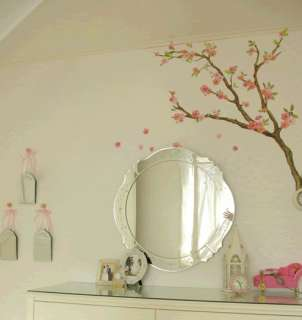 Delicate Flowering Tree branch Wall Art Accent Decal Vinyl Stickers