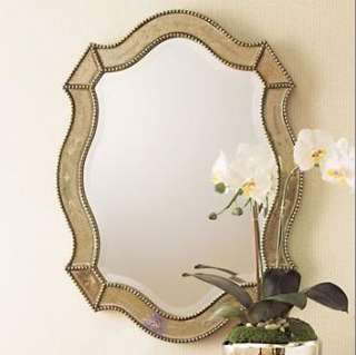 VENETIAN Silver Gold Beaded WALL MIRROR Bathroom Foyer