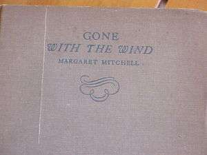 GONE WITH THE WIND MARGARET MITCHELL 1936 BOOK MACMILLAN CO. GREAT
