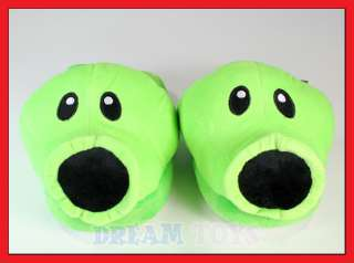 Plants vs Zombies Pea Shooter Adult Plush Indoor Slipper   Footwear