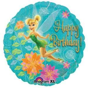 Happy Birthday! Tinkerbell Flowers 18 Balloon Mylar: Toys & Games