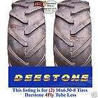 750 16 Terramite Backhoe DEERE KUBOTA 8 ply R1 Bar Lug Tractor Tires