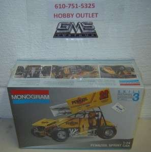 MONOGRAM Model Kit 2445 JAC HAUDENSCHILD PENNZOIL SPRINT CAR 1/24 GMS