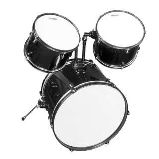 Mendini 5 Pcs Complete Drum Set +Cymbal+Throne~Black Blue Green Red