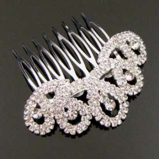 Wholesale 12 pc Austrian rhinestone hair comb bridal