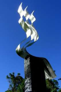 Silver Fine Metal Art Kinetic Outdoor Sculpture Transitions