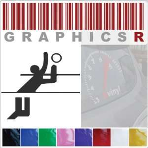 Sticker Decal Graphic   Volley Ball Player Olympic Sport Stick Figure
