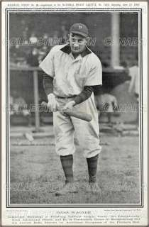 HONUS WAGNER 1905 ★ Baseball POLICE GAZETTE Pittsburg National Team