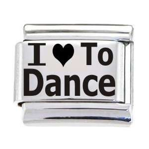 Body Candy Italian Charms Laser I Love To Dance: Jewelry
