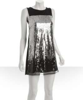 Romeo & Juliet Couture black sequin jersey dress