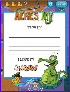Wheres My Water? Custom Personalized Thank You Note Cards  http