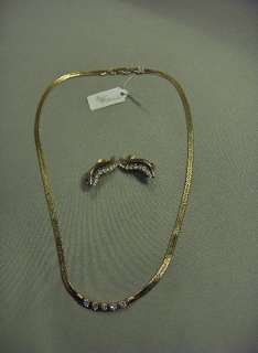 Jewels By Park Lane Jewelry Gold, CZ's Necklace, Clip Earrings