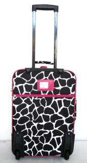 Pc Luggage Set Travel Bag Rolling Wheel Giraffe Pink