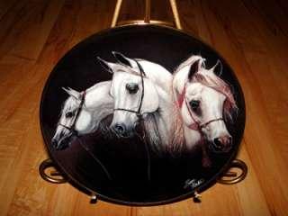 Noble and Free MAGNIFICENT TRIO Susie Morton Danbury Mint Horse Plate