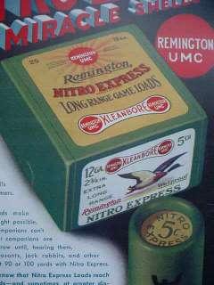 1932 Remington Nitro Express Shotgun Shell Box Poster