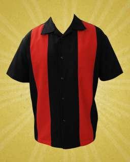 & Red Bowling Lounge Shirt Rockabilly Retro Punk Rock & Roll