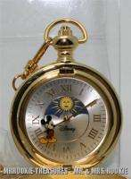 Disney Mickey Mouse Revolving Moon Dial Pocket Watch Brand New INV.#2