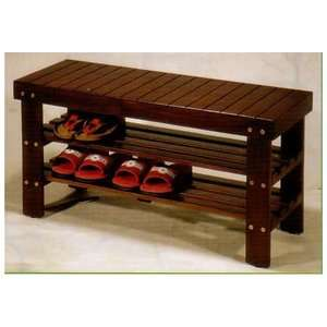 Cherry Solid Wood Shoe Bench Storage Bench Furniture