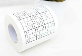 Funny Game Japanese Sudoku Roll Toilet Tissue Paper