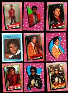 MICHAEL JACKSON Series 1 CARD & STICKER SET * 84 Topps
