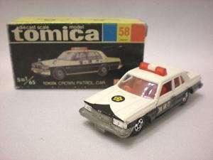 Tomica Vintage No 58 Toyota Crown Patrol Car Japan Made