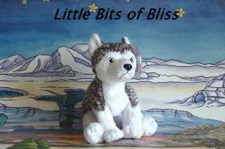 Ty Beanie Baby MUKLUK The Husky Dog White Eyes MWMT