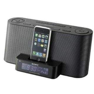 Sony Speaker Dock/Clock Radio for iPod and iPhone   Black by Sony