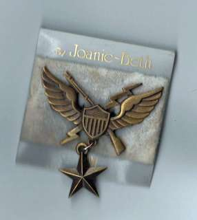 Orig Vietnam US Army Air Assault Badge Sweetheart pin