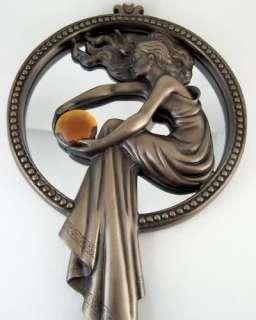 Decorative Bronzed Art Deco Style Wall Mirror NEW